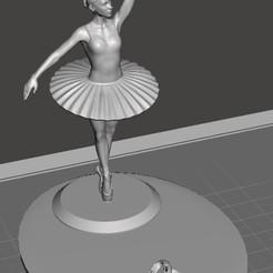 Bailarina1.jpg Télécharger fichier STL gratuit Porte-téléphone portable Ballet Dancer • Modèle à imprimer en 3D, CMPereira