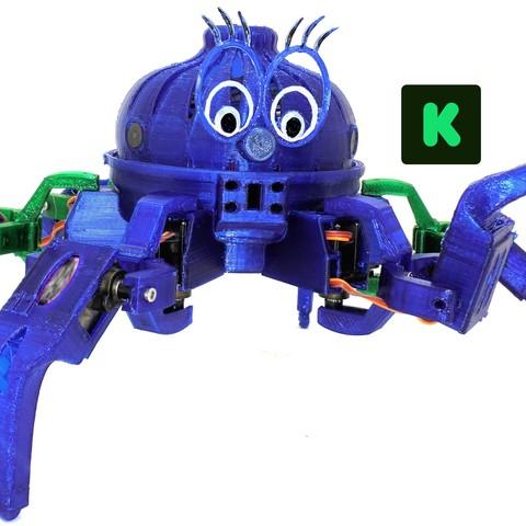 Scamp-Leg-Raised -KS-Logo.jpg Download free STL file Vorpal Combat Hexapod Robot • 3D printable template, pend