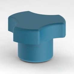 vue1.JPG Download free STL file Clamping knob with insert • 3D printable object, RobinDuc