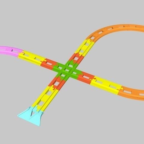 Fichier stl gratuit voie ferr e lego duplo droite demi - Modele lego gratuit ...