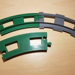 Free 3d model LEGO Duplo train track: curved (full size), kpawel