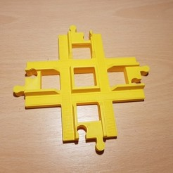 Free 3d printer files LEGO Duplo train track: crossing (90°), kpawel