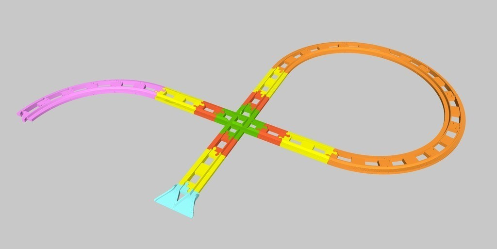 488a0e67b57adb1adbb451ad40761b98_display_large.jpg Download free STL file LEGO Duplo train track: crossing (90°) • 3D printing template, kpawel