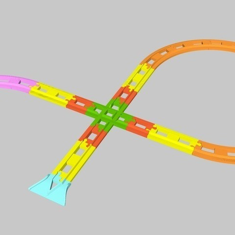 488a0e67b57adb1adbb451ad40761b98_display_large.jpg Télécharger fichier STL gratuit Chemin de fer LEGO Duplo : passage à niveau (90°) • Plan imprimable en 3D, kpawel