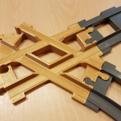 Archivos 3D gratis Vía férrea LEGO Duplo: cruce (60°), kpawel