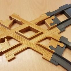 Download free STL LEGO Duplo train track: crossing (60°), kpawel