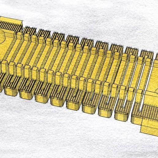 t1.jpg Télécharger fichier STL gratuit Voie ferrée : élastique droite (pleine grandeur) • Objet imprimable en 3D, kpawel