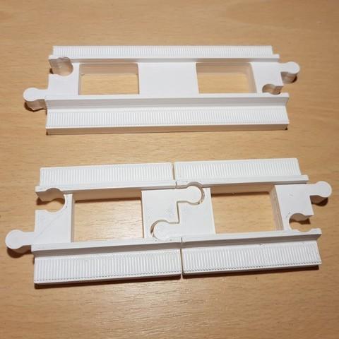 Download free 3D printer designs LEGO Duplo train track: straight (half size), kpawel