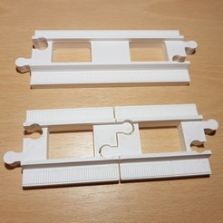 Fichier impression 3D gratuit Voie ferrée LEGO Duplo : droite (demi-taille), kpawel