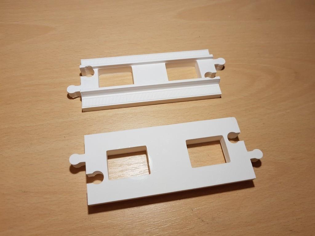 3d011a653ef7fc722b22894f16c594da_display_large.jpg Télécharger fichier STL gratuit LEGO Duplo voie ferrée : droite (pleine grandeur) • Design pour imprimante 3D, kpawel