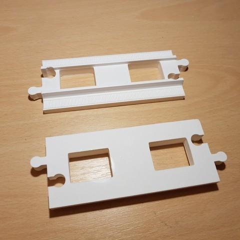 Download free STL files LEGO Duplo train track: straight (full size), kpawel