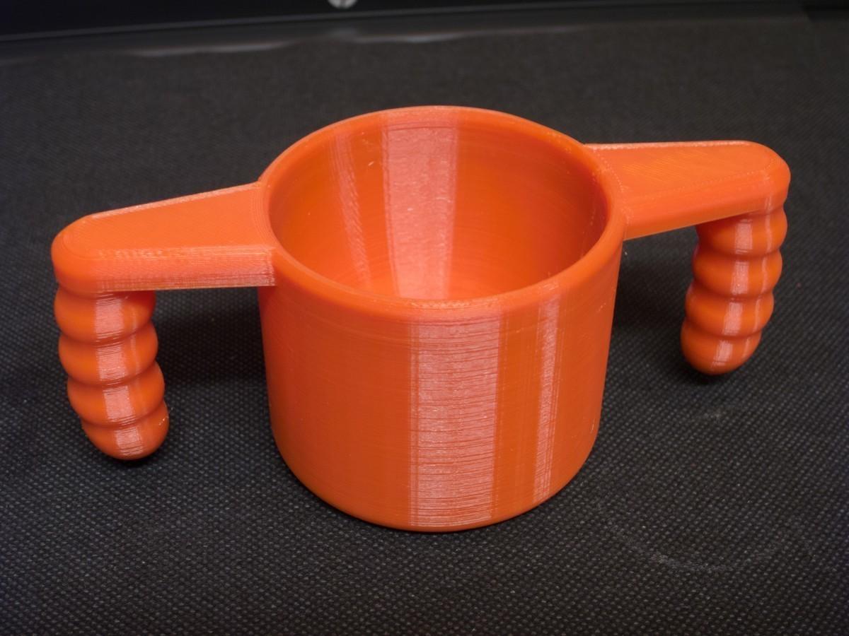 kubek_v2.jpg Télécharger fichier STL gratuit Coupe bébé v2 (plus grande) • Design imprimable en 3D, kpawel