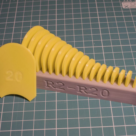 Free STL file Radius measuring toolset, kpawel