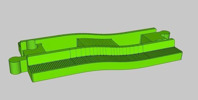 52321a83fd37b40ef0895be538888b23_display_large.jpg Download free STL file LEGO Duplo train track: straight carpet step • Design to 3D print, kpawel