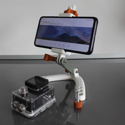 Télécharger fichier imprimante 3D gratuit Téléphone universel GoPro Mount, Tuitxy