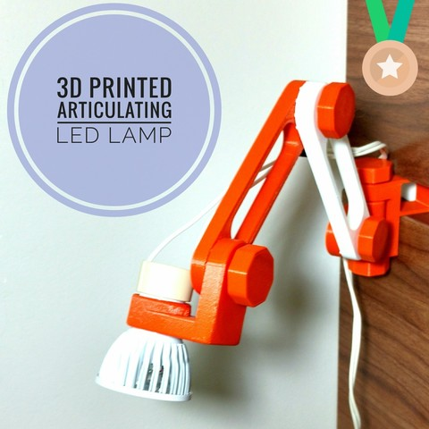 Free 3D print files Articulating LED lamp, IgorF2