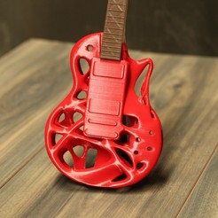 Download 3D printer templates TSPLINES GIBSON LES PAUL 59 GUITAR RESTYLING, DI_joseantoniosv