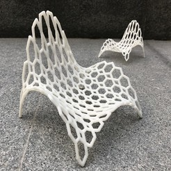 Download STL Hexagonal Wave Chair , DI_joseantoniosv
