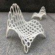 STL file Hexagonal Wave Chair , DI_joseantoniosv