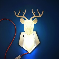 3d printer model Deer Lamp, DI_joseantoniosv