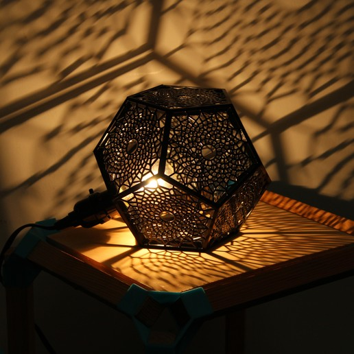 Download STL file Dodecahedron Sunflower Lamp • Object to 3D print, DI_joseantoniosv