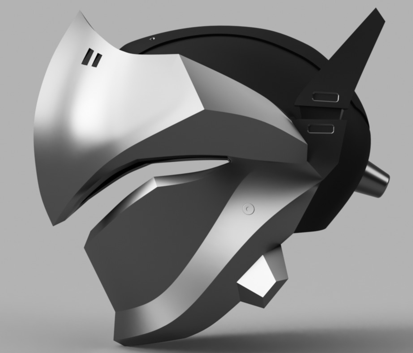 Capture d'écran 2017-09-14 à 17.24.55.png Download free STL file Genji Helmet (Overwatch) • 3D printing template, VillainousPropShop
