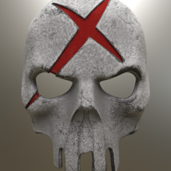 Red X Mask v2.png Download STL file Red X Mask Batman • 3D printable object, VillainousPropShop