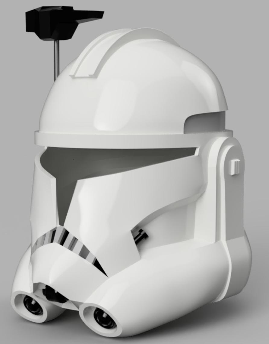 Capture d'écran 2017-09-15 à 19.15.30.png Télécharger fichier STL gratuit Capitaine Rex Casque Phase 2 (Star Wars) • Plan imprimable en 3D, VillainousPropShop