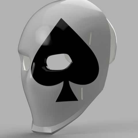 Wild Card Spade Mask.png Download STL file Wild Card Masks Fortnite  • 3D print model, VillainousPropShop