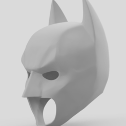 modèle 3d gratuit The Dark Knight Rising Batman Cowl, VillainousPropShop