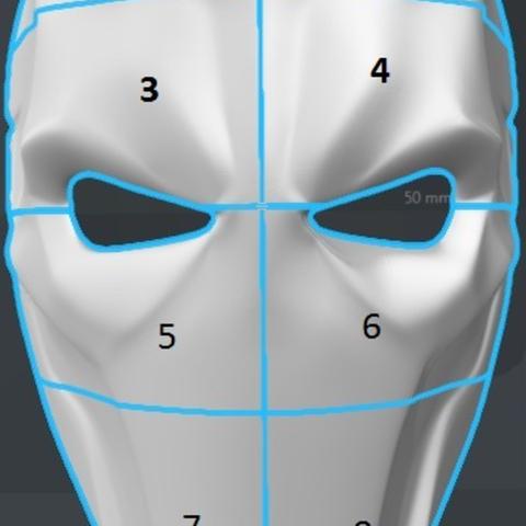 Capture d'écran 2017-09-14 à 18.01.55.png Download free STL file Deathstroke Mask with two eyes • 3D printing model, VillainousPropShop