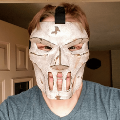 Free 3D printer files Casey Jones Mask (TMNT), VillainousPropShop