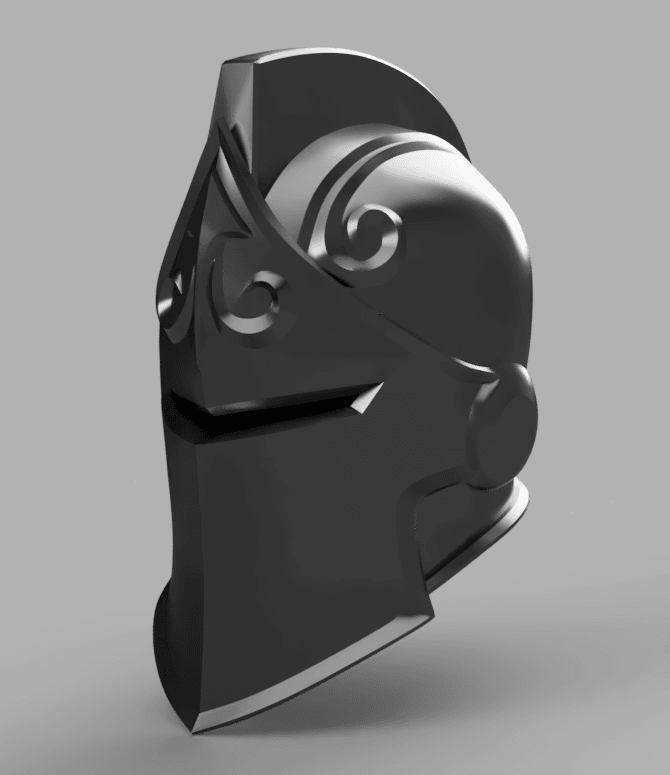 Black_Knight_Helmet_2018-Jun-02_07-17-51PM-000_CustomizedView26357115266.png Download OBJ file Black Knight from Fortnite • 3D print design, VillainousPropShop
