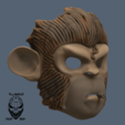 Download 3D printer designs Space Monkey / Pogo Mask, VillainousPropShop