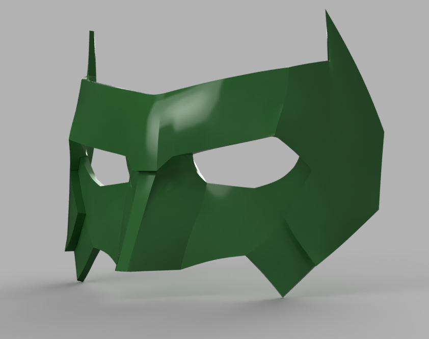 Kyle Rayner Mask version 3 6.png Download STL file Kyle Rayner Mask Green Lantern • 3D print object, VillainousPropShop