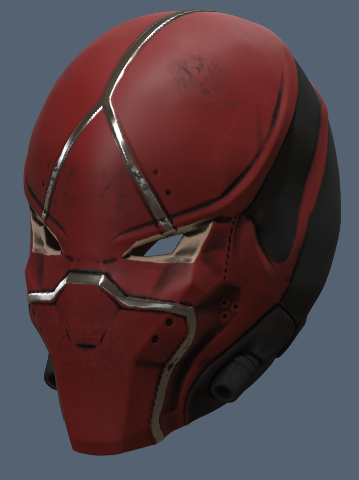 Red Hood Helmet v3.png Download STL file Red Hood Helmet Injustice 2 • Model to 3D print, VillainousPropShop