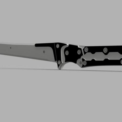 Capture d'écran 2017-09-15 à 20.57.23.png Download free STL file Revengeance Weapon High Frequency Blade (Metal Gear) • 3D printable object, VillainousPropShop