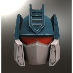 Free Soundwave Helmet Generation 1 3D printer file, killonious