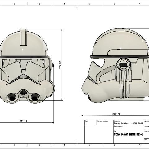 d1.png Download free STL file Clone Trooper Helmet Phase 2 Star Wars • 3D printable template, VillainousPropShop