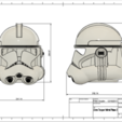 Download free 3D printer templates Clone Trooper Helmet Phase 2 Star Wars, VillainousPropShop