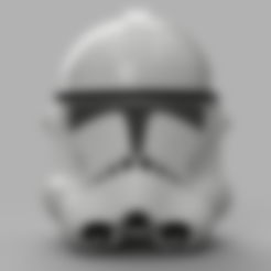 Clone Trooper Helmet Phase 2 v3.stl Télécharger fichier STL gratuit Clone Trooper Casque Phase 2 Star Wars • Plan pour impression 3D, VillainousPropShop