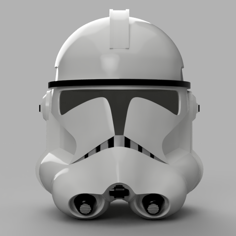 Clone Trooper Helmet Phase 2 v2.png Télécharger fichier STL gratuit Clone Trooper Casque Phase 2 Star Wars • Plan pour impression 3D, VillainousPropShop
