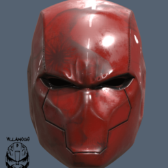 Red Hood Rebirth Helmet logo.png Download STL file Red Hood Helmet Rebirth • 3D print model, VillainousPropShop