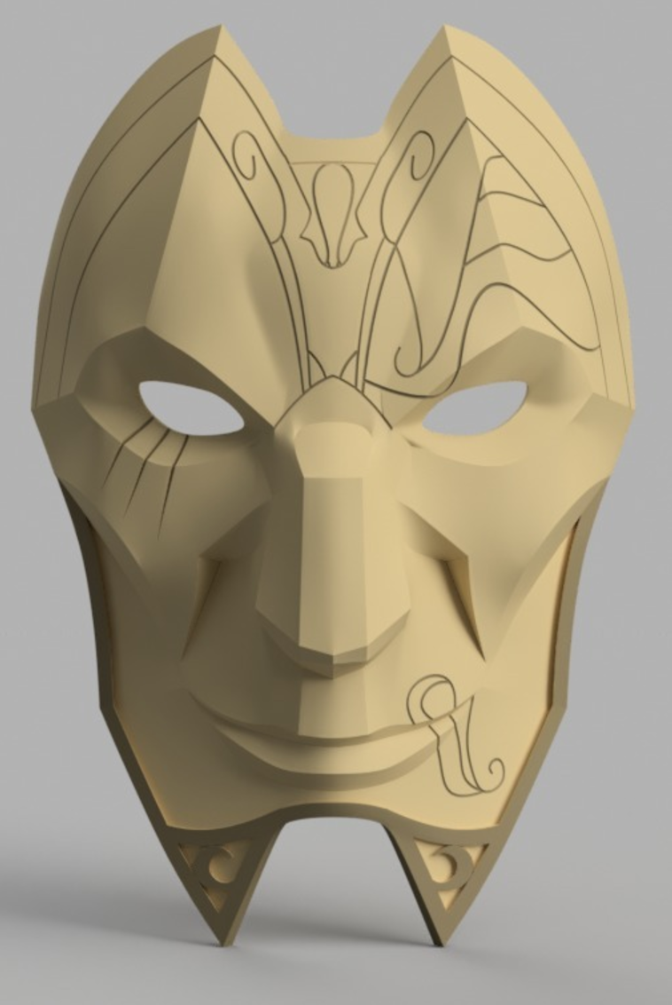 Capture d'écran 2017-09-15 à 09.56.17.png Download free STL file Jhin Mask (League of Legends) • 3D printing template, VillainousPropShop