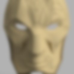 Part1_v2.stl Download free STL file Jhin Mask (League of Legends) • 3D printing template, VillainousPropShop