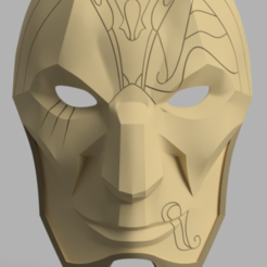 Download free 3D print files Jhin Mask (League of Legends), VillainousPropShop