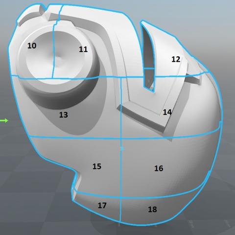 Capture d'écran 2017-09-15 à 12.07.11.png Download free STL file Blood Dragon Helmet Mass Effect 2 • Design to 3D print, VillainousPropShop