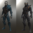 STL Omega and Carbide Statues Fortnite, VillainousPropShop