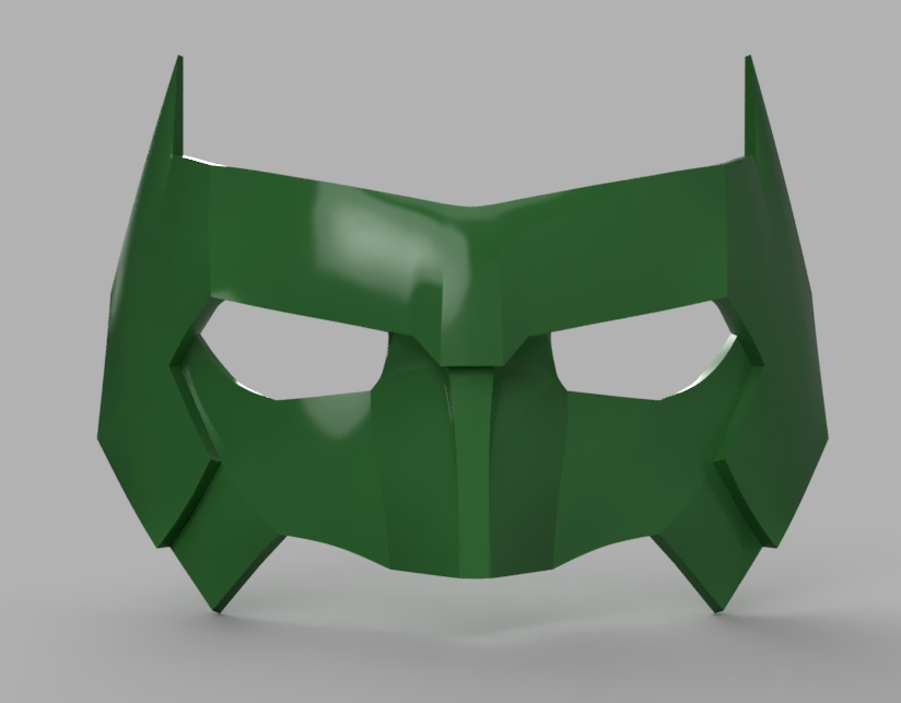 Kyle Rayner Mask version 3 5.png Download STL file Kyle Rayner Mask Green Lantern • 3D print object, VillainousPropShop