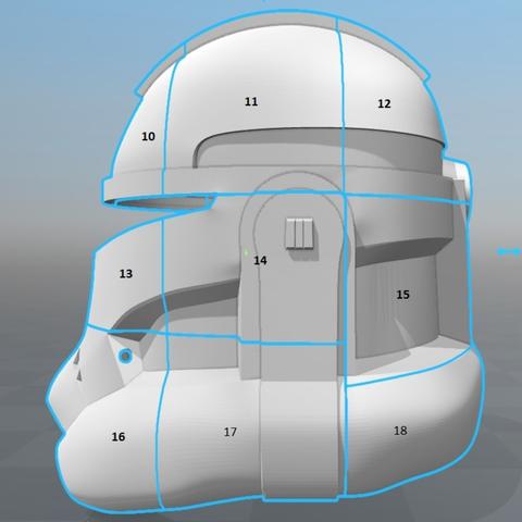 Capture d'écran 2017-09-15 à 19.15.52.png Télécharger fichier STL gratuit Capitaine Rex Casque Phase 2 (Star Wars) • Plan imprimable en 3D, VillainousPropShop